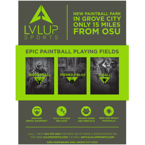 Printable LVL UP Sports Columbus Paintball Poster