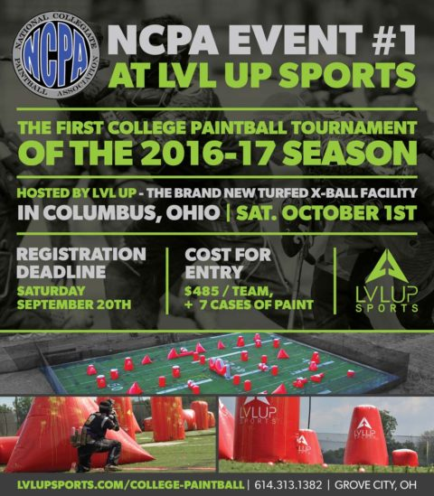 NCPA College Paintball Tournament – MWGL Event #1
