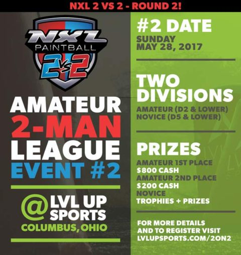 NXL 2 on 2 EVENT 2 – Sunday May 28th at LVL UP