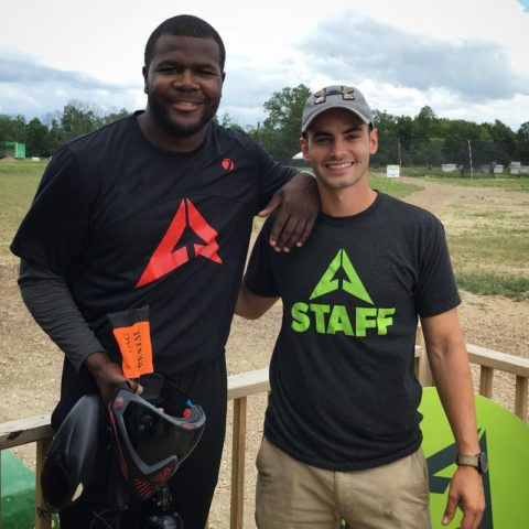Cardale Jones Plays Paintball in Columbus at LVL UP Sports
