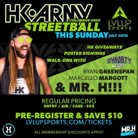 HK Army STREETBALL Sunday July 30th at LVL UP Sports