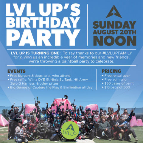 LVL UP's First Birthday Party Sunday August 20th