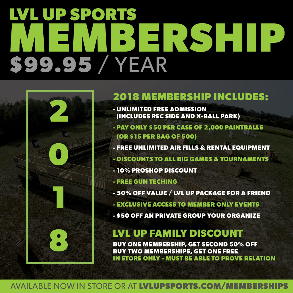 paintball membership