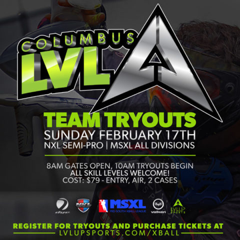 Columbus LVL X-Ball Team Tryouts Sunday February 17, 2019
