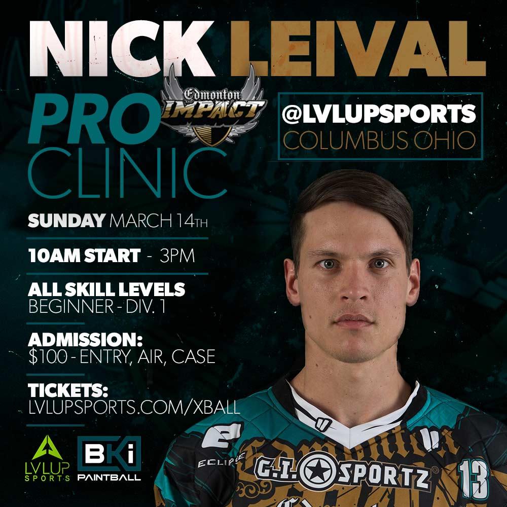 Nick Leival Paintball Clinic